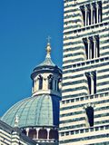 Detail of siena cathedral. Tower and cupola of siena cathedral in tuscany Royalty Free Stock Image