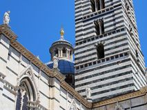 Detail of Sienna Cathedral, Italy Royalty Free Stock Photos