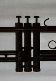 Detail of Silhouette of Trumpet royalty free stock images