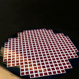 Detail of a silicon chip wafer. Reflecting different colors Royalty Free Stock Photo