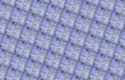 Detail of a silicon wafer royalty free stock images