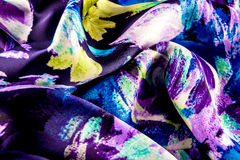 Detail of the silk fabric Royalty Free Stock Photography