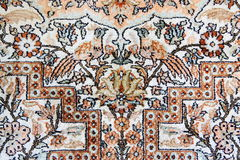 Detail of Silk Isfahan Carpet Stock Photography