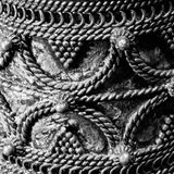 Detail of silver bracelet with stripes Royalty Free Stock Images