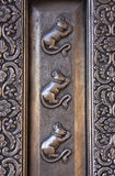 Detail of silver door, Karni Mata Temple, Deshnok, India Stock Images