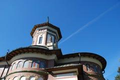 Detail of Sinaia Monastery, Romania. Bottom view and detail of roof of Sinaia Monastery, Romania stock photos
