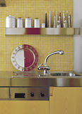 Detail of sink in the kitchen Stock Photo