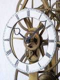 Detail of a skeleton clock Stock Photos