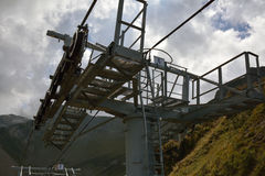 Detail of a ski chairlift mechanism Stock Photos