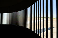Detail of skybridge at Bremen airport Stock Photography