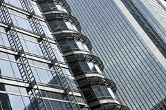 Detail of a skyline building Royalty Free Stock Photos