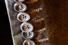 Detail of sleeves. On a tailor`s suit shop Royalty Free Stock Image