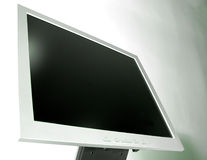 Detail - Slim LCD monitor. Slim LCD monitor Royalty Free Stock Photos