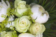 Detail of small bouquet with roses Royalty Free Stock Photos