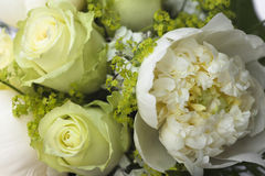 Detail of small bouquet with roses Stock Image