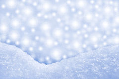 Detail of snowdrift and  sparkling background Royalty Free Stock Photo
