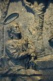 Detail of soapstone fountain of the Samaritan by Aleijadinho, Ma Royalty Free Stock Photos