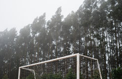 Detail of a soccer goal Stock Photo