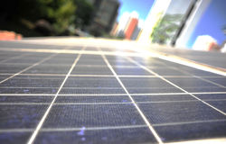 Detail of solar panel Royalty Free Stock Photo