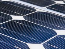 Detail of a solar panel. On a clear day Royalty Free Stock Photo