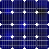 Detail of the solar panel royalty free stock photos