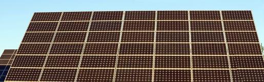Detail of Solar Panel Royalty Free Stock Photos
