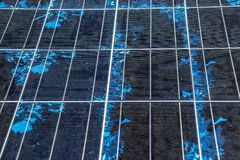 Detail of Solar panel, Photovoltaic, Alternative electricity source, Solar panel texture royalty free stock photo