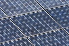Detail of solar panels texture Stock Photo