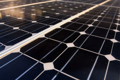 Detail of solar panels texture Stock Images