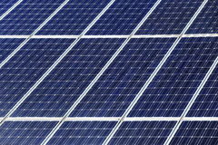 Detail of Solar Power Station Stock Photography