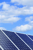 Detail of Solar Power Station with blue cloudy Sky Stock Photography