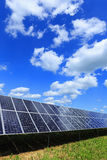 Detail of Solar Power Station with blue Sky Royalty Free Stock Photos