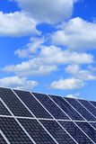 Detail of Solar Power Station with blue Sky Royalty Free Stock Image