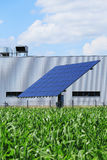 Detail of Solar Power Station on the spring Meadow Stock Photos