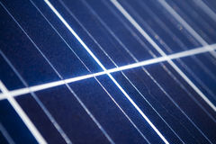 Detail of solar pv panel Royalty Free Stock Photography