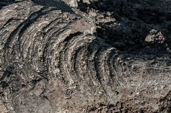 Detail of solidified lava in the Krafla volcanic system in Iceland.  royalty free stock image