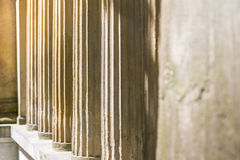 Detail of some ancient pillars. Of a temple royalty free stock images