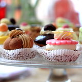 Detail. Some delicious cakes waiting to be eaten by some celebrants Stock Photo