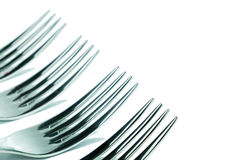Detail of some forks Royalty Free Stock Images