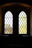 Detail of some old windows. Leiria, Portugal royalty free stock photography