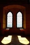 Detail of some old windows. Leiria, Portugal stock photo