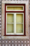 Detail of some old windows. Leiria, Portugal Royalty Free Stock Photos