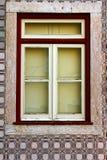 Detail of some old windows. Leiria, Portugal royalty free stock photos