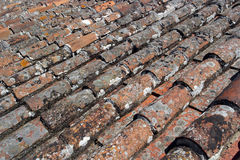 Detail of some roof tiles Royalty Free Stock Image