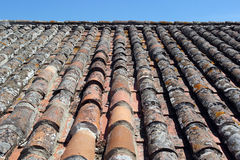 Detail of some roof tiles Stock Photos