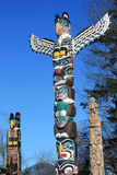 Detail of some Totem Poles in Stanley Park Stock Image