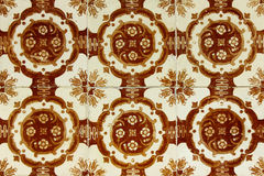 Detail of some typical portuguese tiles Royalty Free Stock Images