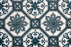 Detail of some typical portuguese tiles Stock Images
