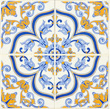 Detail of some typical portuguese tiles Stock Image
