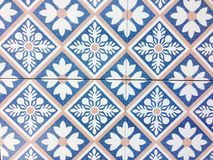 Detail of some typical portuguese tiles Royalty Free Stock Photos